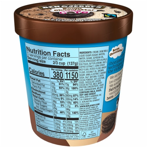 Ben & Jerry's Boom Chocolatta Core Ice Cream Pint Perspective: back