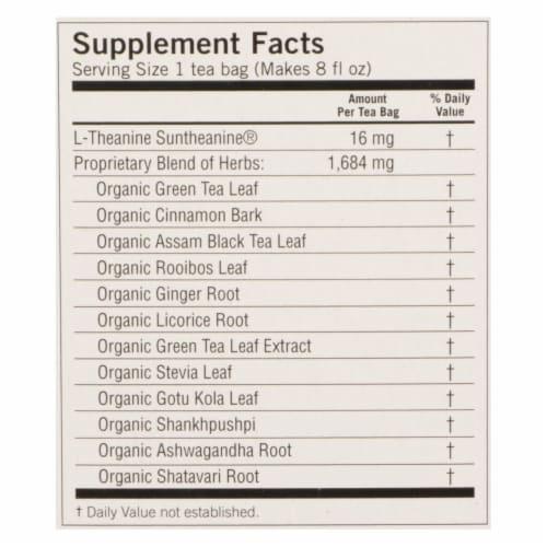 Yogi Perfect Energy Herbal Tea Vanilla Spice - 16 Tea Bags - Case of 6 Perspective: back