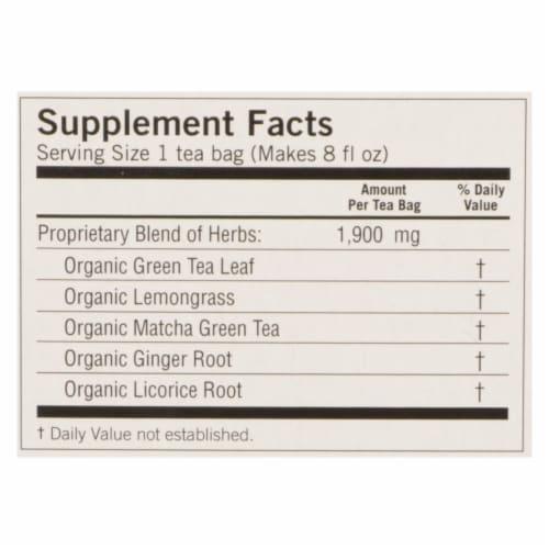 Yogi Tea - Organic - Green - Passionfruit Matcha - Case of 6 - 16 BAG Perspective: back