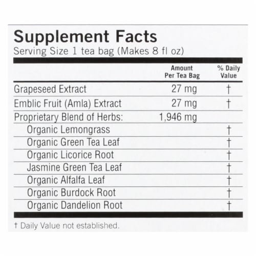 Yogi Tea Green Tea Super Antioxidant - 16 Tea Bags Perspective: back
