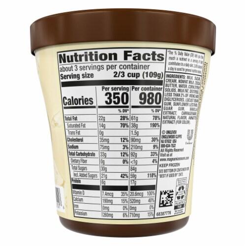 Magnum White Chocolate Vanilla Ice Cream Perspective: back