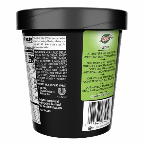 Breyers® Cookies & Cream Ice Cream Perspective: back