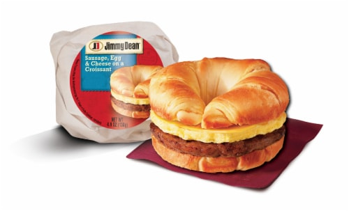 Jimmy Dean Sausage Egg & Cheese Croissant Sandwiches Perspective: back