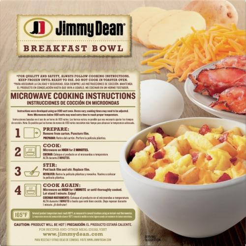 Jimmy Dean Bacon Egg Potato & Cheese Breakfast Bowl Frozen Meal Perspective: back