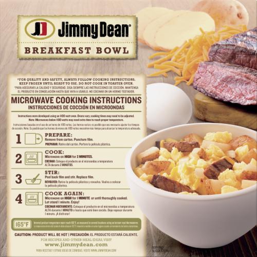 Jimmy Dean Steak & Eggs Breakfast Bowl Case Perspective: back