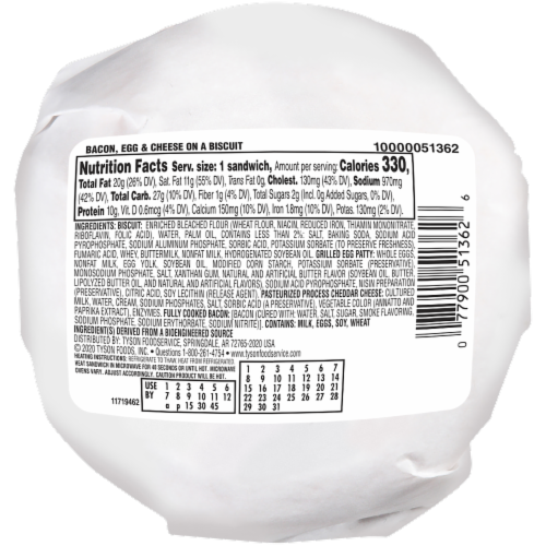 Jimmy Dean® Butcher Wrapped Bacon Egg & Cheese Biscuit Frozen Entree Case Perspective: back
