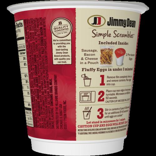 Jimmy Dean Simple Scrambles Meat Lover's Breakfast Cup Case Perspective: back