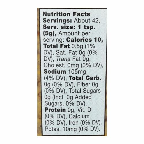 Bornier - Mustard - Organic Whole Grain - Case of 6 - 7.4 oz. Perspective: back
