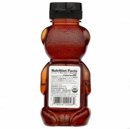 Madhava Honey Organic Honey Bear - Case of 6 - 12 oz. Perspective: back