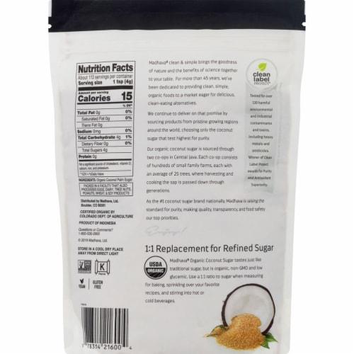 Madhava Honey Organic Coconut Sugar - Case of 6 - 16 oz. Perspective: back