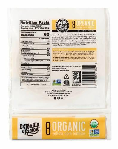 Organic Yellow Corn Tortillas Perspective: back