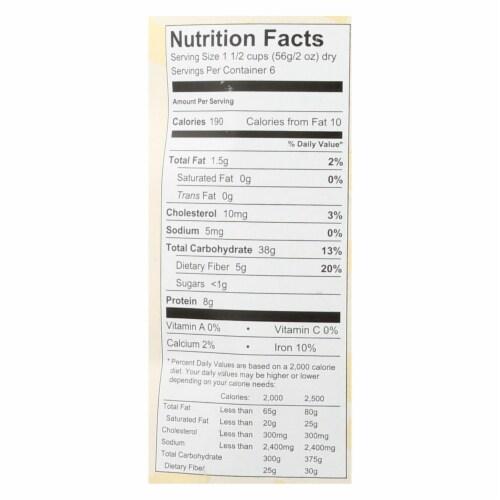 Al Dente - Fettuccine - Whole Wheat - Case of 6 - 12 oz. Perspective: back