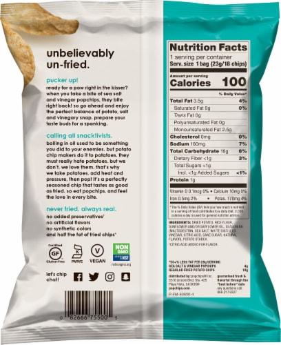 popchips® Gluten Free Sea Salt & Vinegar Potato Chips Perspective: back