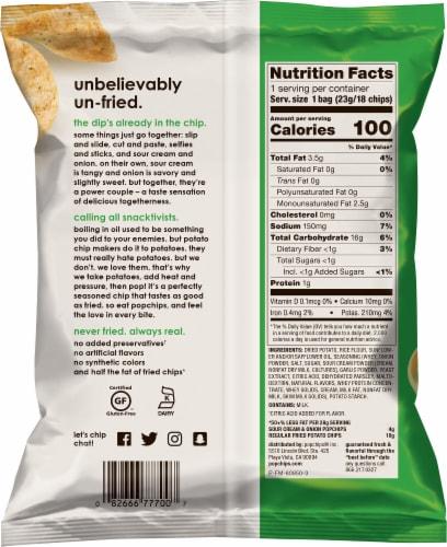 popchips® Gluten Free Sour Cream & Onion Potato Chips Perspective: back
