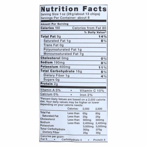 Kettle Brand Potato Chips - Sea Salt and Vinegar - Case of 12 - 8.5 oz. Perspective: back
