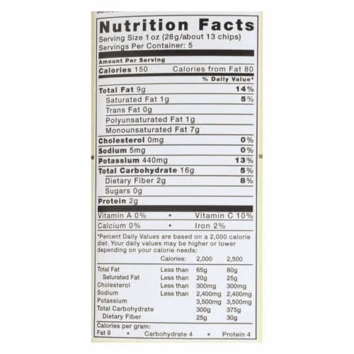 Kettle Brand Unsalted Potato Chips 5 Oz Bag (Pack of 15) Perspective: back