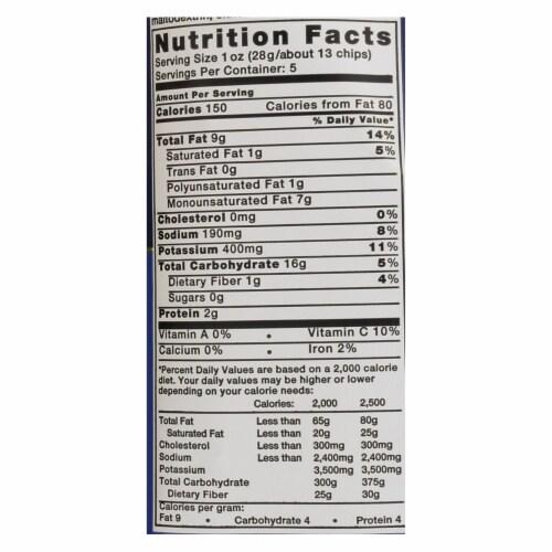 Kettle Sea Salt and Vinegar Potato Chips - 5 oz. bag, 15 per case Perspective: back
