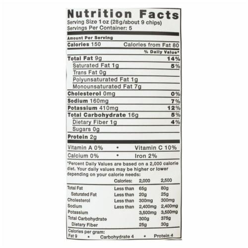 Kettle Krinkle Cut Salt and Fresh Ground Pepper Potato Chips - 5 oz. bag, 15 per case Perspective: back