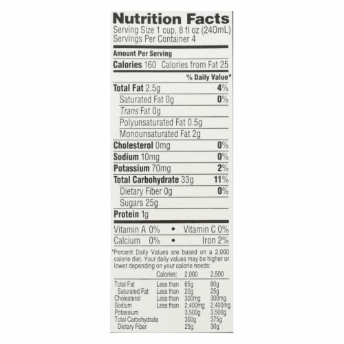 Imagine Foods Rice Dream Traditional Rice Drink - Horchata - Case of 6 - 32 Fl oz. Perspective: back