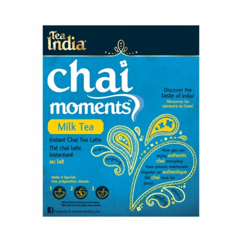Tea India Chai Moments Milk Tea Instant Chai 10ct - 6 Pack Perspective: back