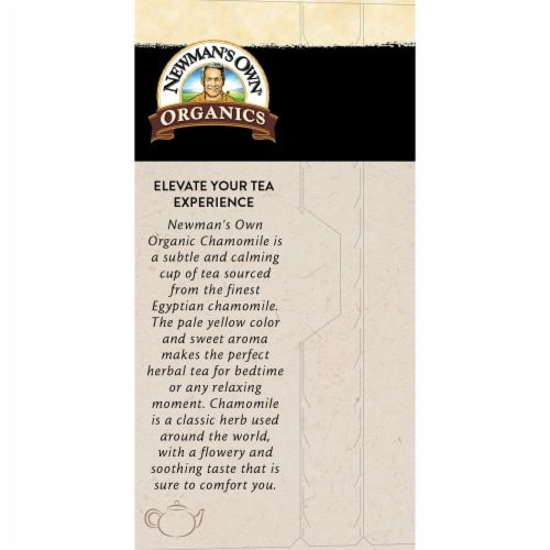 Newman's Own Organics Chamomile Herbal Tea 20ct - 6 Pack Perspective: back