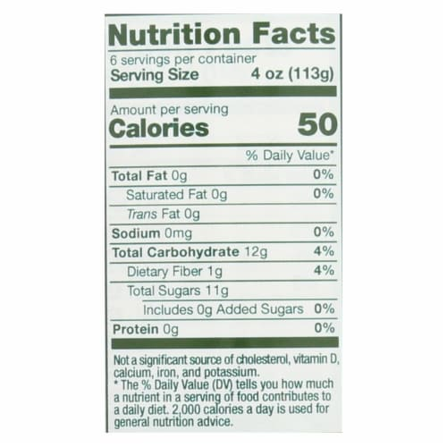 Vermont Village Organic Applesauce - Unsweetened - Case of 6 - 24 oz. Perspective: back