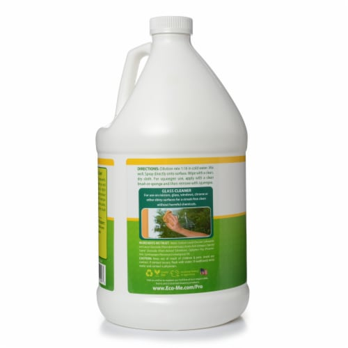 Eco-Me Pro 4pk. 1 Gallon Glass Cleaner Lemon Scent Perspective: back