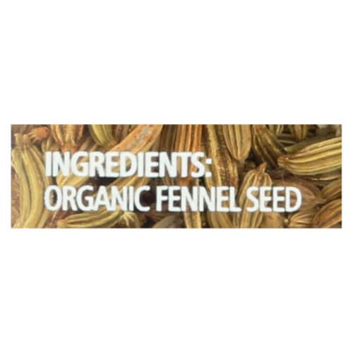 Simply Organic Fennel Seed - Case of 6 - 1.9 oz. Perspective: back