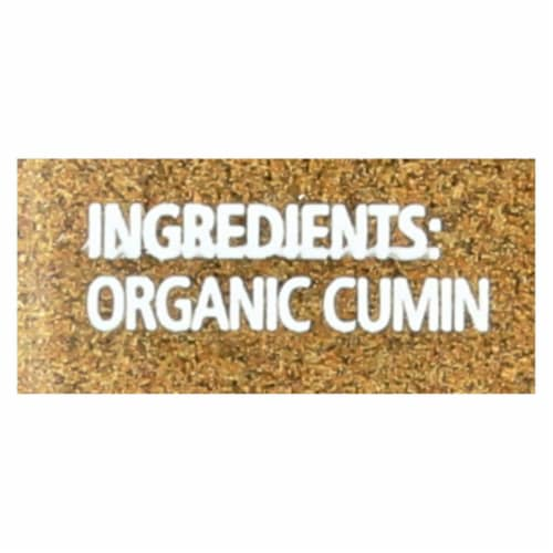 Simply Organic Ground Cumin Seed - Case of 6 - 2.31 oz. Perspective: back