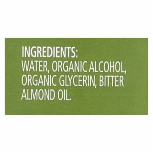 Simply Organic Almond Extract - Organic - 4 oz Perspective: back