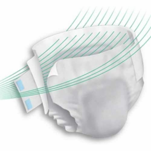 Unisex Adult Incontinence Brief Prevail® Per-Fit® Large Disposable Heavy Absorbency (72 CS) Perspective: back