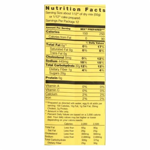 Pamela's Products - Vanilla Cake - Mix - Case of 6 - 21 oz. Perspective: back