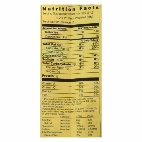 Pamela's Products - Cornbread and Muffin - Mix - Case of 6 - 12 oz. Perspective: back