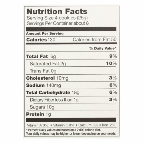 Pamela's Products - Mini Cookies - Chocolate Chip - Case of 6 - 7 oz. Perspective: back