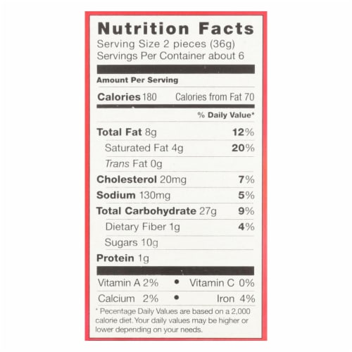 Pamela's Products - Grahams Style Crackers - Cinnamon - Case of 6 - 7.5 oz. Perspective: back