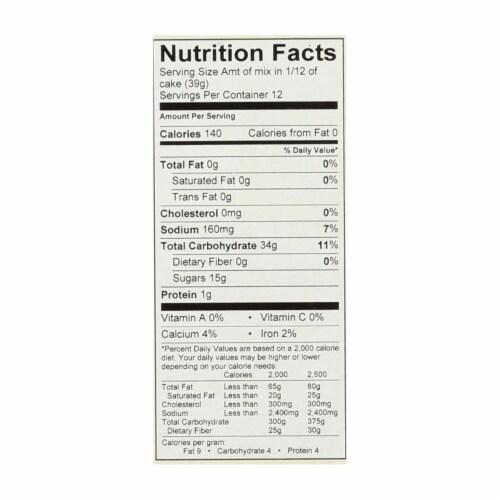 Cherrybrook Kitchen - Gluten & Wheat Free Yellow Cake Mix - Case of 6 - 16 oz Perspective: back