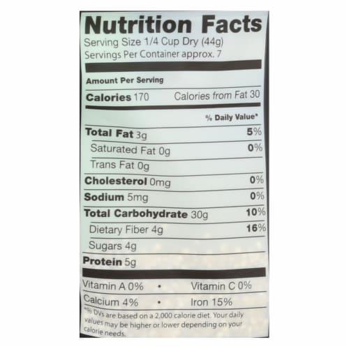 Truroots Organic Quinoa - Whole Grain - Case of 6 - 12 oz. Perspective: back