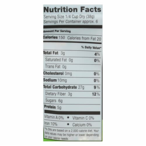 Truroots Organic Trio Quinoa - Accents Sprouted - Case of 6 - 8 oz. Perspective: back