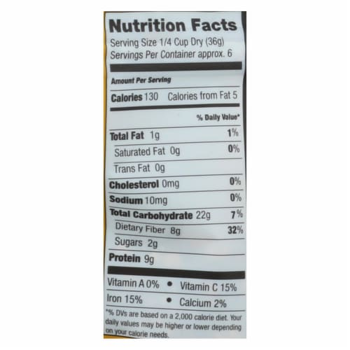 Truroots Organic Trio Lentils - Accents Sprouted - Case of 6 - 8 oz. Perspective: back
