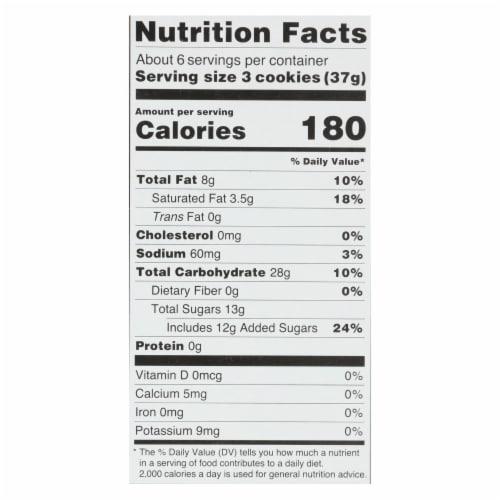 Kinnikinnick Vanilla Creme Sandwich Cookies - Case of 6 - 8 oz. Perspective: back