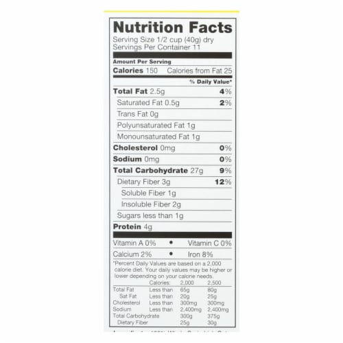McCann's Irish Oatmeal Quick Cooking Rolled Oats - Case of 12 - 16 oz. Perspective: back