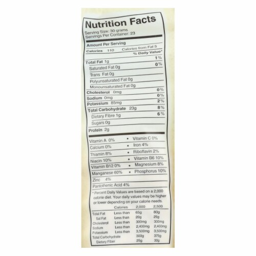 One Degree Organic Foods Sprouted Brown Rice Flour - Organic - Case of 6 - 24 oz. Perspective: back