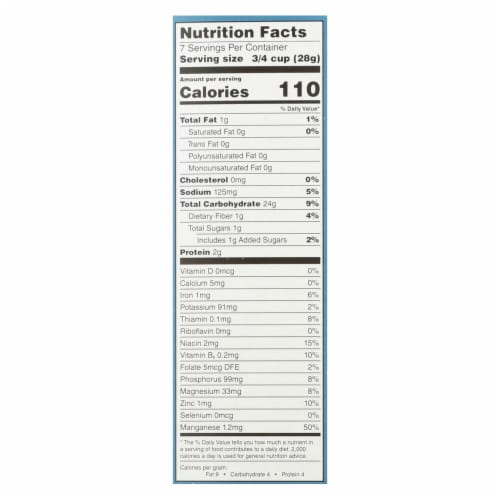 One Degree Organic Foods Sprouted Brown Rice - Crisps Cereal - Case of 6 - 8 oz. Perspective: back
