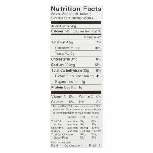 Glutino Original Crackers - Case of 6 - 4.4 oz. Perspective: back