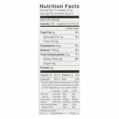 Glutino Sea Salt Crackers - Case of 6 - 4.25 oz. Perspective: back