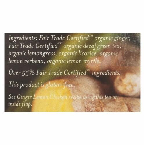 Numi Tea Organic Tea - Decaf Ginger Lemon - Case of 6 - 16 Bags Perspective: back