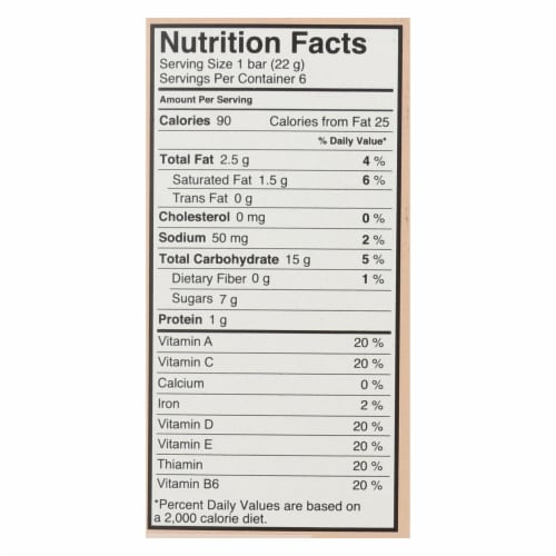 Made Good Crispy Squares - Chocolate Chip - Case of 6 - 4.68 oz. Perspective: back