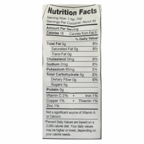 Nutiva Coconut Sugar - Case of 6 - 16 oz Perspective: back