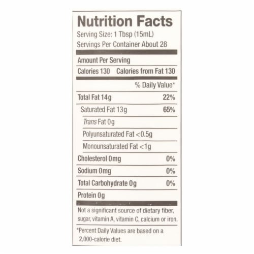 Nutiva Coconut Oil - Organic - Superfood - Virgin - Unrefined - 14 oz - Case of 6 Perspective: back