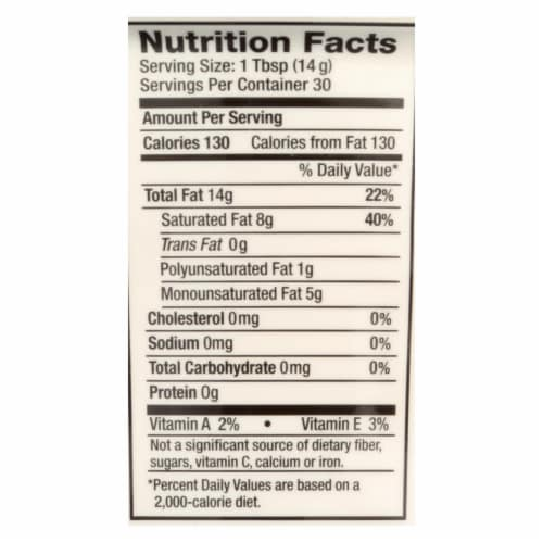 Nutiva Organic Superfood Shortening - Case of 6 - 15 oz. Perspective: back